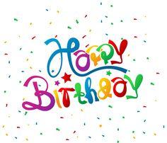 Happy Birthday with Confetti Clipart Picture