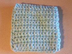 Crochet Potholder, Baby Blue by HandmadeCraftPassion on Etsy