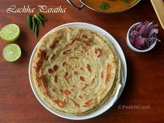 Lachha Paratha Or Multi Layered Indian Flat Bread