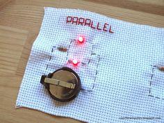 Cosir i fer ampolles: Cómo coser varios leds: circuitos serie/paralelo