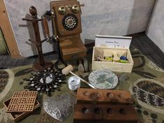 Curious about Curiosity: Ditch the Plastic and Value the Vintage! Vintage Tools, Vintage Items, Some Questions, This Or That Questions, How Does Learning Happen, Curiosity Approach, Suitcase Table, Wooden Numbers, Infancy