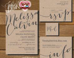 Printable Bruiloft Uitnodigingen suits