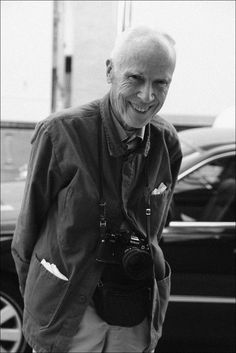 Bill Cunningham, on the street photographer for The New York Times. He's taken my pic twice in my life: at age 19 and age 27. I have no idea if I ever made the cut into the paper. Nonetheless, it's pretty cool to be able to say that.