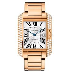 Only $70K , Visit & Buy http://goo.gl/7s9ZFX  on Amazon.Cartier 18k Rose Gold & Diamond Tank Anglaise Men's Watch WT100004, Top/Best selling luxury watches