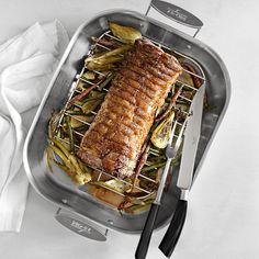 All-Clad Stainless-Steel Flared Roasters | Williams-Sonoma