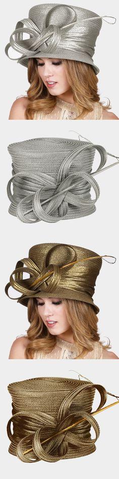 Women Formal Hats: Womens Feather Bow Glitter Hat Dressy Wedding Church Kentucky Derby - Usa Seller -> BUY IT NOW ONLY: $60 on eBay!