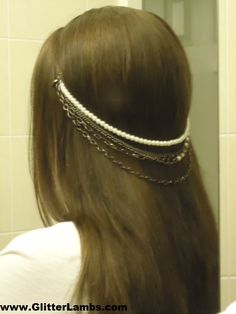 DIY cheap and easy headpiece using dollar store necklaces and 2 boby pins