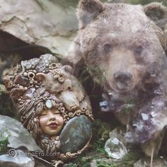 Embrace the wisdom of Bear Spirit and it will facilitate the development of your capabilities beyond what you have believed possible Jewelry Shop, Jewelry Accessories, Women Jewelry, Jewellery, Meaningful Necklace, Polymer Clay Figures, Animal Jewelry, Spirit Animal, Cosmic