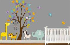 babyzimmer wandgestaltung wandtattoos waldtieren