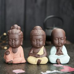 Visit our online store to find unique and handmade small mandala clay Buddha statues. 3 different colors available! Only $5.70. Order now! #BuddhaStatues #MandalaMagikDeals