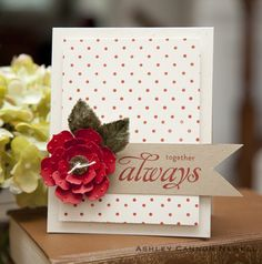 Clean, simple and gorgeous handmade card!