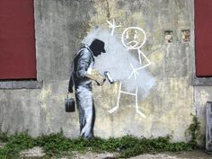 banksy - Google zoeken Banksy Work, Street Art Banksy, Graffiti History, Graffiti Art, Urban Street Art, Urban Art, Banksy Artist, Graffiti Workshop, Banksy Canvas Prints