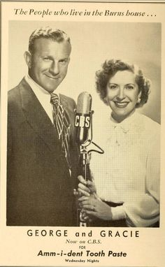 "CBS RADIO - ""The Burns and Allen Show"" starring George Burns & Gracie Allen."