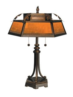 Dale Tiffany TT90399 Mica Table Lamp, Antique Golden Sand and Mica Shade - - Amazon.com $238.23