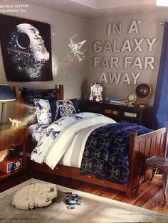 Boys Star Wars Room (Pottery Barn Kids). JT Like The Wall Quote.