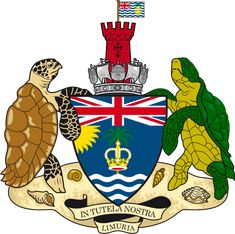 Coat of arms of the British Indian Ocean Territory - Territorio britannico dell'Oceano Indiano - Wikipedia Native American Map, Family Crest Symbols, Indiana, African States, British Overseas Territories, Europe Continent, British Indian Ocean Territory, British Colonial, Coat Of Arms