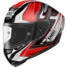 Shoei Assail X-14 Sports Bike Racing Motorcycle Helmet - TC-1 / 2X-Large. Aerodynamic properties are maximized through extensive wind tunnel testing and professional riders' feedback. Dual-Layer Multi-Density EPS liner enhances impact absorption and ventilation. Four shell and five EPS liner sizes present increased fit options that help to comfortably fit most head sizes. Impact absorbing EPS liner throughout the entire chin bar with Cheek Pad Cooling System. Standard Rear Flaps can be...