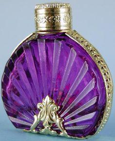 Handmade Collectible Czech Purple & Gold Perfume Bottle _ Source: http://www.marteccisfinefragrances.com/PRODUCTS-N-SERVICES/Collectible-perfume-bottles.html