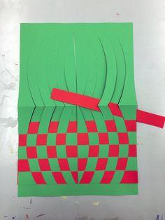 Weave an Op Art illusion at Art Fusion Op Art Lessons, Art Lessons Elementary, Paper Weaving, Weaving Art, Middle School Art Projects, 4th Grade Art, Ecole Art, Math Art, Illusion Art