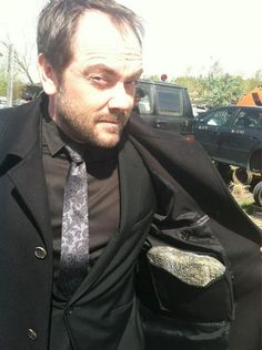 Mark Sheppard behind the scenes