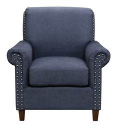 Roll Arm Accent Chair in Blue | Pulaski Furniture | Home Gallery Stores