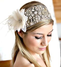 Rhinestone headband. I highly recommend this shop. #bridal #headband #rhinestone