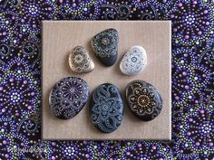 Craft product Birthday painted flowers growing on the rocks paint material natural photo 15