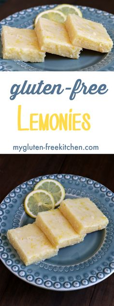Gluten-free Lemonies like Brownies but with lemon! Perfect recipe for potlucks, picnics and baby showers!