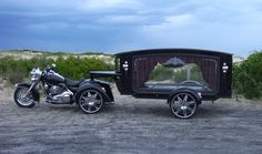 A motorcycle hearse makes a statement and personalizes the service to provide that special remembrance for your family and friends. Provided by http://www.coffincompany.co.uk