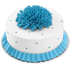 Blue Carnation Cake!
