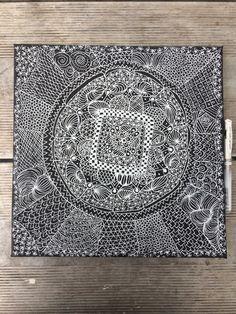 Zentangle wall art. whatcha-mccall-it.blogspot.com