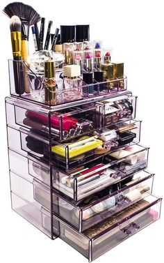 SORBUS Makeup Storage Organizer - Medium... #makeuporganization #makeuporganizer #organize #makeup #storage #makeupstorage