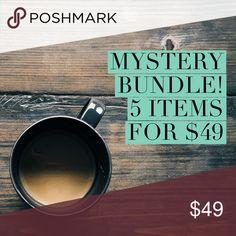 👠 MYSTERY BUNDLE 👠 You'll receive 5 random items chosen by me. Each item will be retail. All items are final sale 😘 Tops