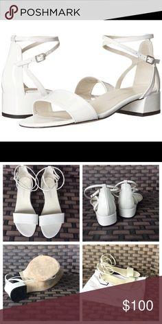 Like new Stuart weitzman sandal Peewee white leather sandal like new. Dust bag has some dirt on it from storage 8.5 Stuart Weitzman Shoes Sandals