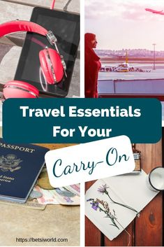 The most necessary travel essentials for your carry on! If you are planning a trip then you better make sure you have these essentials in your carry on bag! Travel better with these nine travel essentials to pack in your carry-on. Carry On Bag Essentials, Travel Essentials, Travel Tips, Budget Travel, Spring Break Vacations, Vacation Trips, Travel Light, Packing Tips, Business Travel