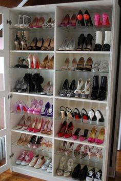 Shoe storage for small space shoe storage small spaces clever shoe rack shoe storage in closet . shoe storage for small space Shoe Organizer, Closet Organization, Organization Ideas, Organizing Shoes, Cheap Bookshelves, Bookcases, Bookshelf Closet, Diy Casa, Ideas Para Organizar