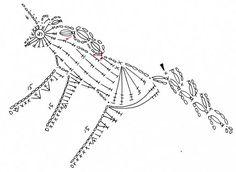 free crochet patterns: unicorn motif (figure horse with braided unicorn!) - crafts ideas - crafts for kids