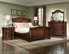 Lowest prices on Discount Heritage Court Bedroom Set Legacy Classic Furniture. Buy Heritage Court Bedroom Set Legacy Classic Furniture in a group and save more. Sage Bedroom, King Bedroom, Wood Bedroom, Bedroom Decor, Design Bedroom, Mirror Bedroom, Brown Furniture, Classic Furniture, Furniture Styles