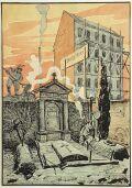 """Otto Fuerstenau (b.1873), """"Caricature"""", Watercolor, 1910s"""