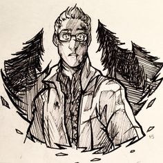 pixelsuperhero: #Inktober 15 goes to Chris from Until Dawn. Protect this nerd baby at all costs.