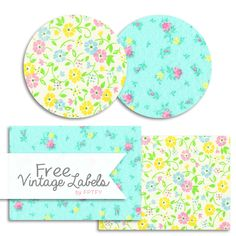 Free Printable Shabby Vintage Labels-by-FPTFY The white background print is the exact one that was on my wallpaper and my bed sheets when I was growing up! Free Printable Art, Printable Labels, Printable Paper, Free Printables, Vintage Labels, Vintage Tags, Shabby Vintage, Organizing Labels, Handmade Gift Tags