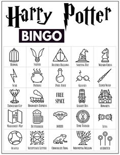 30 Harry Potter themed bingo cards for a Harry Potter themed party or classroom activity. Harry Potter Movies Ranked, Cumpleaños Harry Potter, Harry Potter Drawings, Harry Potter Birthday, Harry Potter Themed Party, Harry Potter Weekend, Harry Ptter, Harry Potter Colors, Harry Potter School