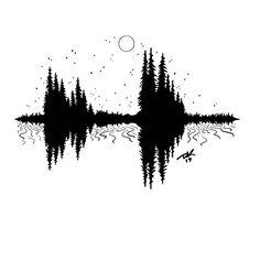 A sound wave tattoo commission all done... nature style 🌲😎@kmacentre @jamesgalidowyatt
