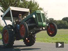 Insane Village-Drifting V8-Powered Ferguson Tractor Ensures the Freshest German Apples!