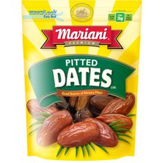 Mariani Pitted Dates - 40 ounce - Sam's Club = 6 cups whole dates
