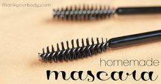 "Why homemade mascara? For some time now my entire makeup routine has been a dab of lip balm and a quick brush of mascara. But I still wondered if these two little ""makeup essentials"" were really good for me. Being the hippie-lovin'-green-livin' type gal that I"