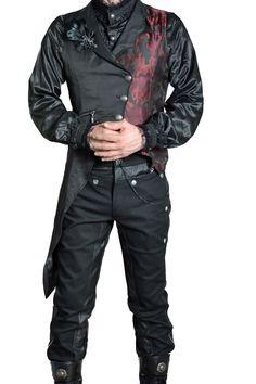 Gothic Herrenhose Colonel im Uniform-Look Military Steampunk Victorian Pants in Kleidung & Accessoires, Herrenmode, Hosen   eBay