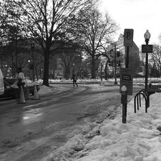 DuPont circle // Sunday Morning. #washingtondc #dupontcircle #dupont #northwestdc #nwdc #blizzard2016 #snow #canont2i #winter by capitalflashdc