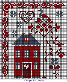 Thrilling Designing Your Own Cross Stitch Embroidery Patterns Ideas. Exhilarating Designing Your Own Cross Stitch Embroidery Patterns Ideas. Cross Stitch Fruit, Cross Stitch House, Cross Stitch Heart, Cross Stitch Borders, Cross Stitch Samplers, Cross Stitch Designs, Cross Stitching, Cross Stitch Embroidery, Embroidery Patterns