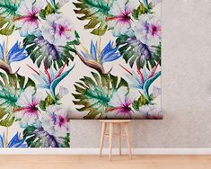 Upgrade your walls with this elegant Orchids Watercolor Wallpaper adding an exclusive touch to your personal style and surprise your family and friends. Watercolor Wallpaper, New Wallpaper, Fabric Wallpaper, Simple Addition, Self Adhesive Wallpaper, Cool Patterns, Textured Walls, Fabric Material, Decor Styles